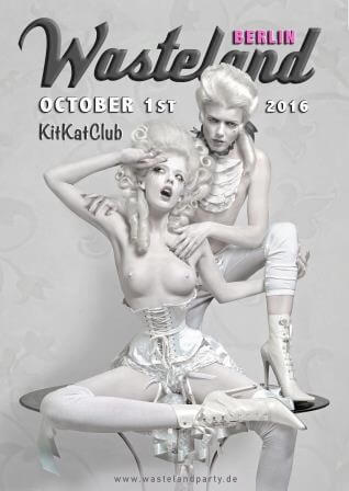 Mistress Amrita Neon Rope bondage show with Dutch Dame  at Wasteland Berlin  in Berlin, Germany on 01 October 2016