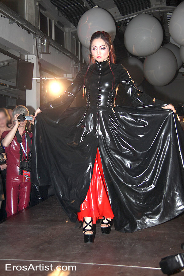 Mistress Amrita Modeling for HW design Fashion show  at German Fetish Ball Weekend 2017 in Berlin, Germany on 29 April 2017