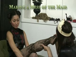 mistress amrita messy maid video sissy training maid fetish crush food