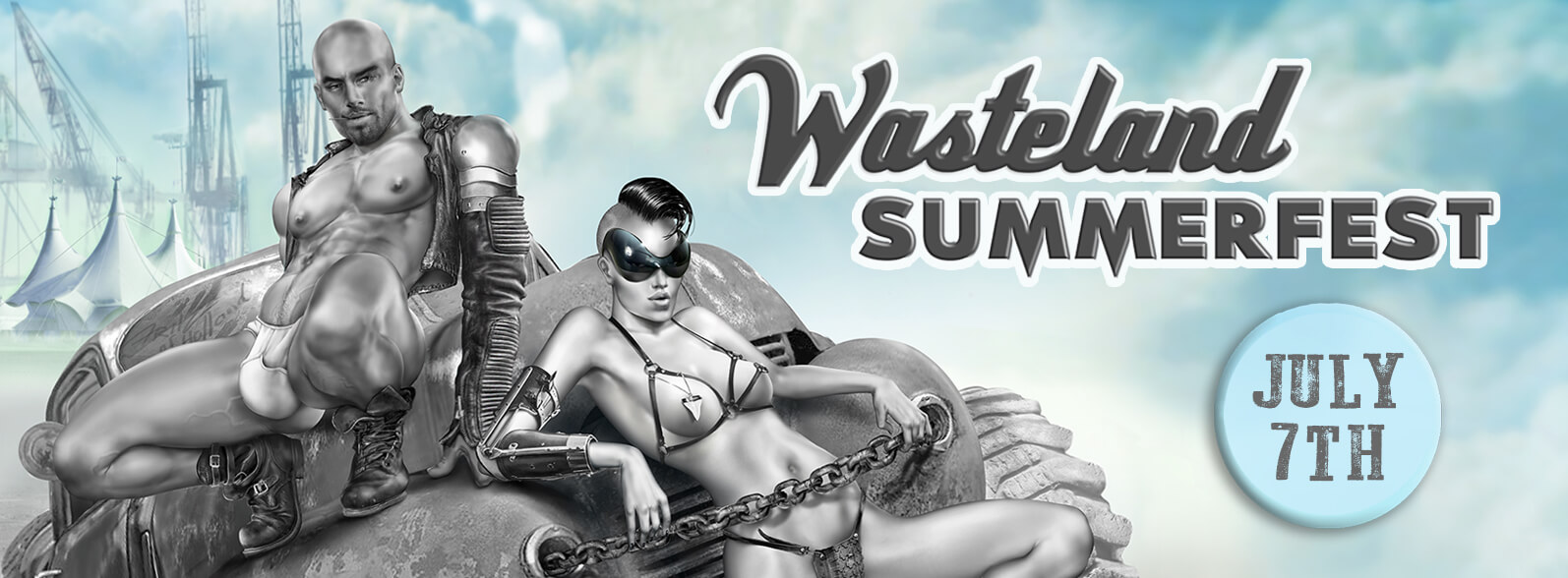 Mistress Amrita Gladiator show with Giada Da Vinci (Rome)  at Wasteland Amsterdam Summerfest in Amsterdam, Netherlands on 07 July 2018